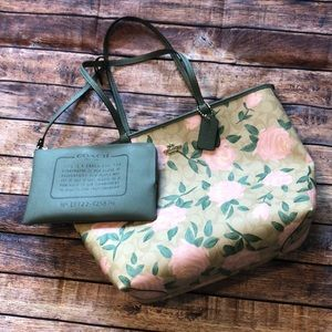 Coach Reversible City Tote with Camo Rose Print